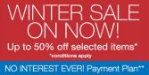 King Furniture Winter Sale